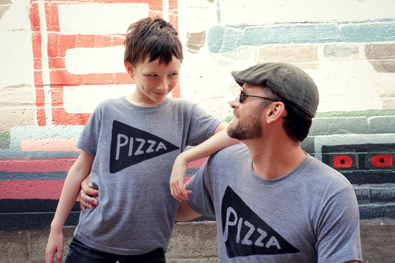 10c887e05 Father Son Matching Pizza Slice T Shirts fathers day shirts   Etsy
