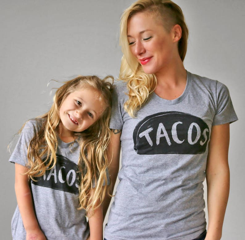 680105bba6c1 Mommy and Me Family Matching Tee Shirts Taco Tuesday shirt