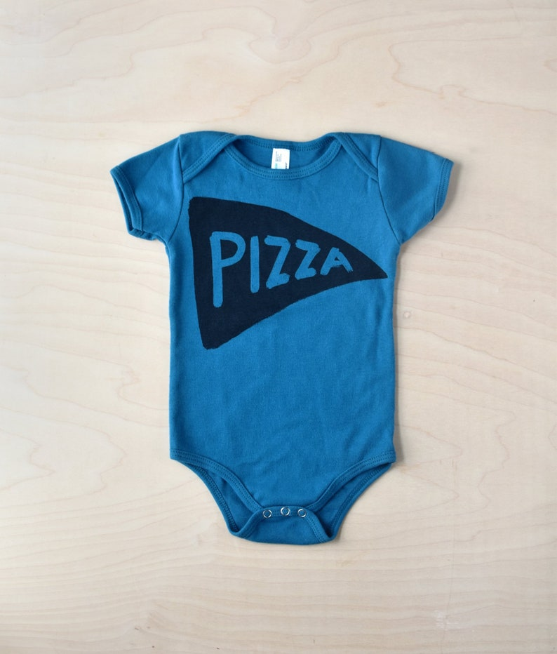 3c0d11085 Galaxy Blue Organic Cotton Baby Pizza Bodoysuit baby one | Etsy