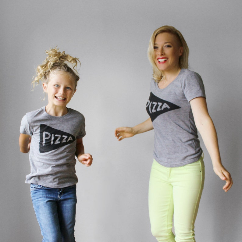 93482b2019698 Mommy and Me Outfit Pizza matching t shirts matching tees
