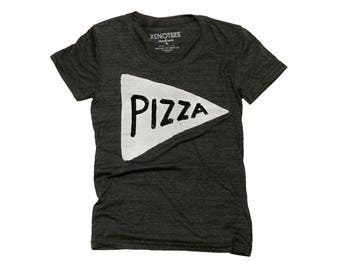 Pizza Shirt, Women's Black T-Shirt, pizza near me, pizza lover, pizza slice t shirt, teen gift, funny tshirt, gift for her, home slice