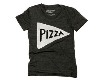 Womens Pizza T shirt, black tshirt, track tee, woman gift, pizza, pizza t-shirt, funny tshirt, ladies shirt, sister birthday gift, teen girl
