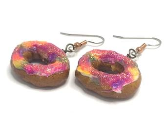 King Cake Earrings - Gold Tone or Copper