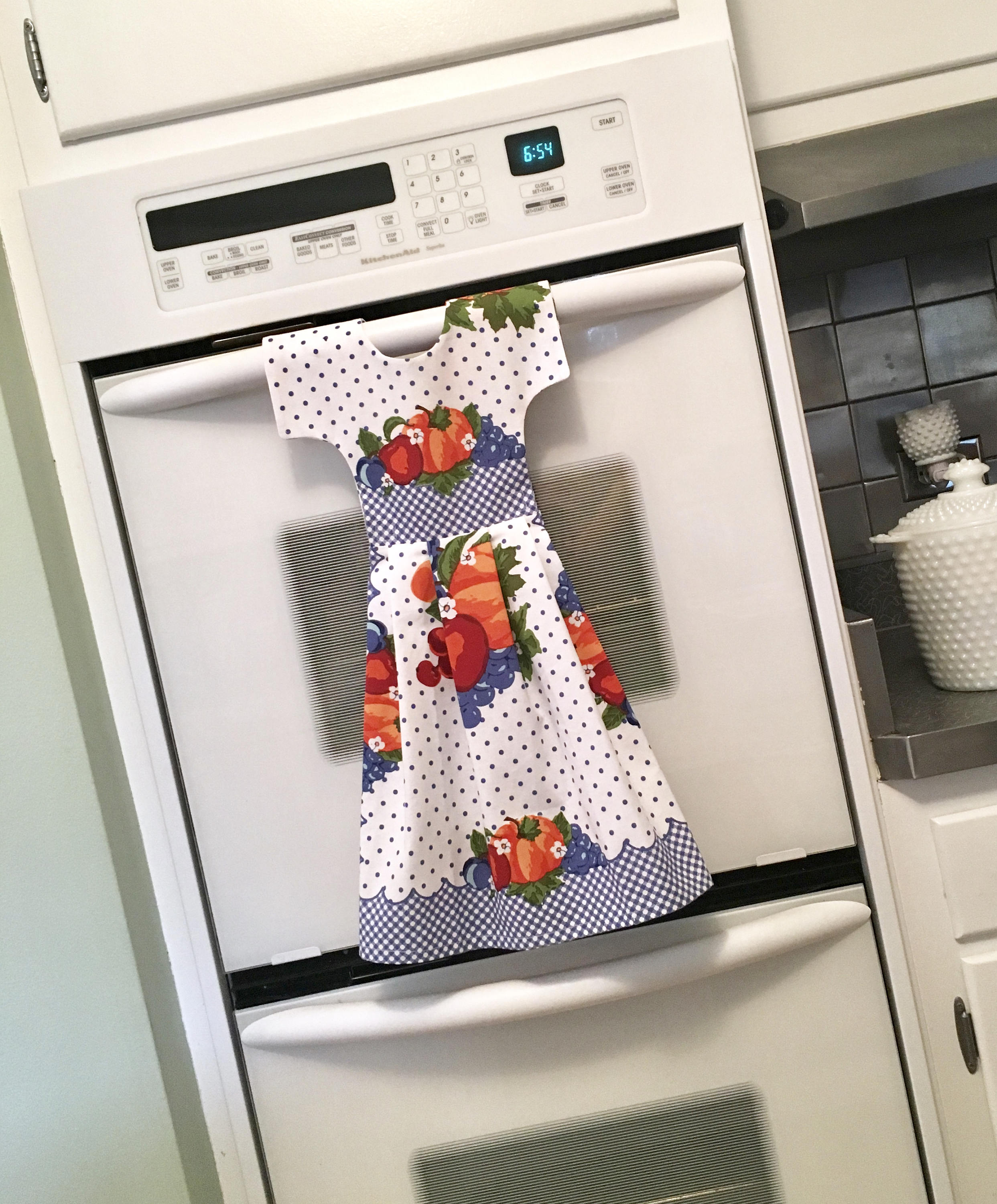 Vintage Inspired Kitchen Towel Dress / Dish Towel Dress