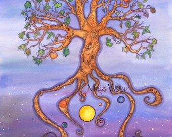 """Life Tree  -  Limited Edition Giclee Print signed and numbered 24"""" x 17"""""""