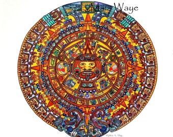 Aztec Sun 8 x 10