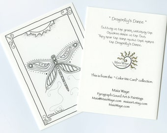 Dragonfly's Dance coloring Card