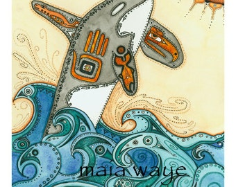 Reaching for the Sun / Blank Greeting Card