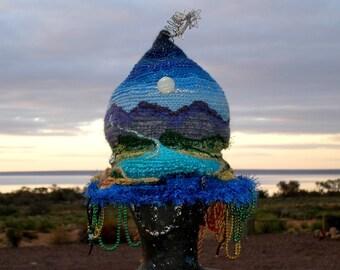 Art Hat Wearable Art Hat Alice Springs Beanie Festival  Australian Nomadic Journey Hat