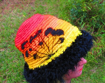 Custom ORDER you own Thermal Sunset Silhouette Beanie Hat Winter Weight