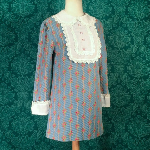 Vintage 60s Mod gogo tunic mini dress