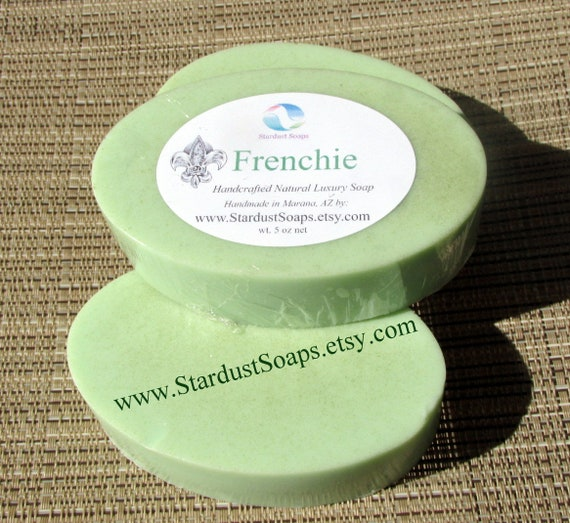 Frenchie Bar Soap/handmade specialty soap, mineral soap, moisturizing, hydrating, for all skin types, luxury skin care soap, gift soap