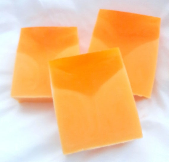 SALE Peaches and Cream Handmade Natural Glycerin Soap (Rich, creamy lather, coconut oil, individually packaged and labeled wt. 5.25 oz net)