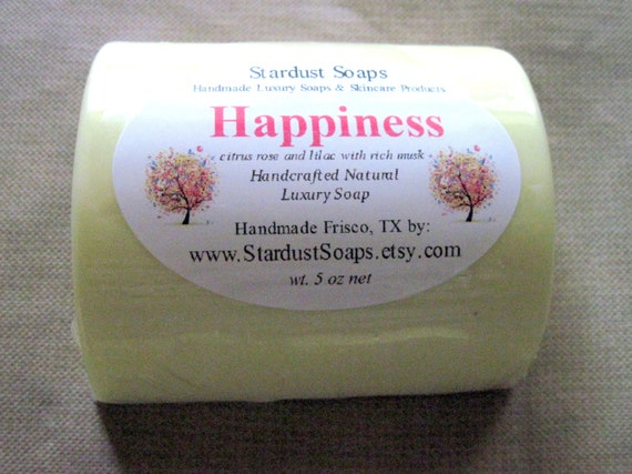 Happiness - Handmade Natural Bar Soap (Fresh, clean, aromatic, cleansing soap, moisturizing)