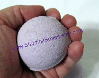 Lilac Handmade Bath Bomb Fizzy wt. 82 g. net (individually packaged and labeled) Stardust Soaps