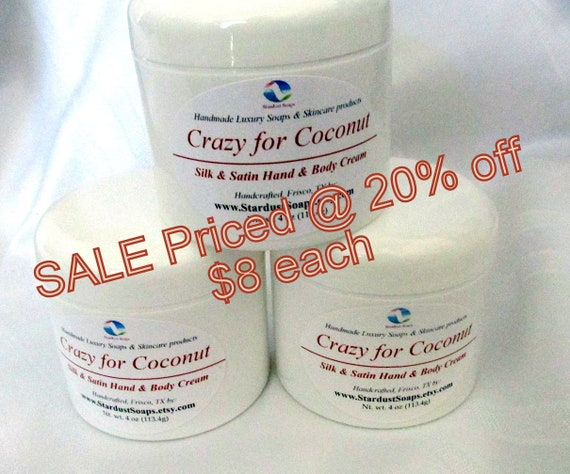 SALE - Crazy for Coconut / Jar cream (Handcrafted, moisturizing, silky smooth, aromatic) Limited Edition