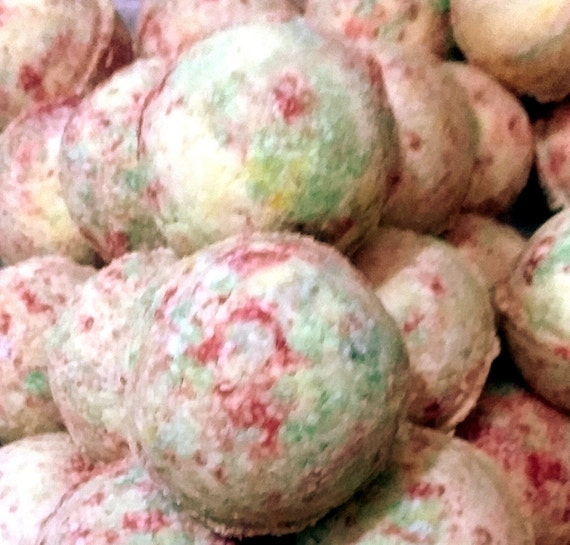 Stardust Soaps - Fruit Loops Bath Bomb Fizzy (handmade, natural exfoliation, aromatic, individually packaged and labeled) (NO Cornstarch!)