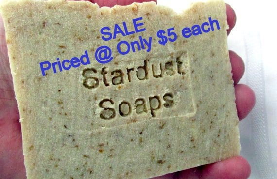 SALE Oats, Milk & Honey Bar Soap (Natural, handmade, moisturizing, soothing, lathers) wt. 5 oz net individually packaged