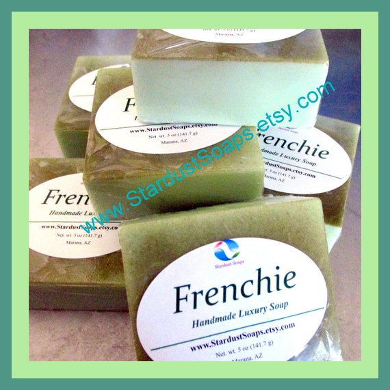 Frenchie Bar Soap/handmade facial soap, mineral soap, moisturizing, hydrating, for all skin types, luxury skin care soap, gift soap