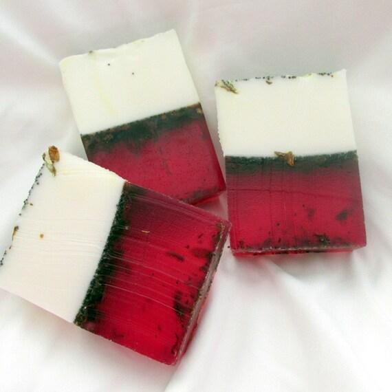 Botanical - Rose Soap (handmade, luxurious, moisturizing, aromatic, unique, exfoliates, individually packaged wt. 5 oz net)