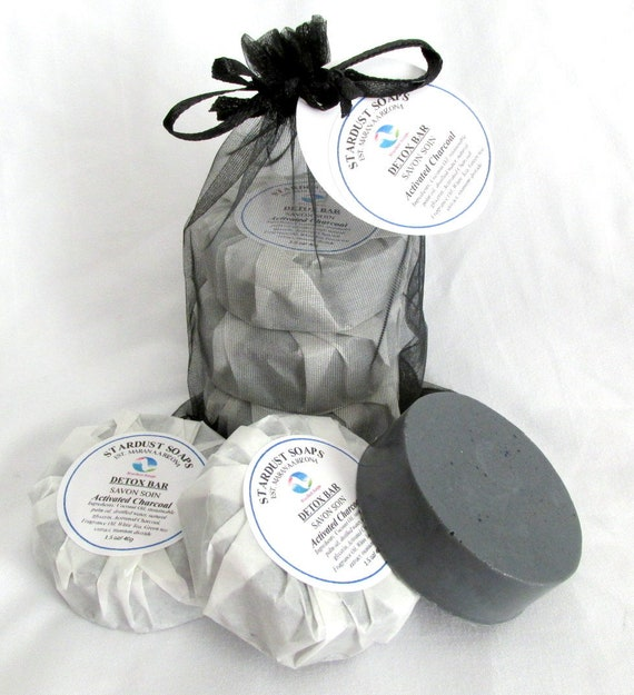 Detox Trio Soap Set/for all skin types, complexion soap,travel soaps, hydrating soap, gift for teens, facial soaps Free USA shipping