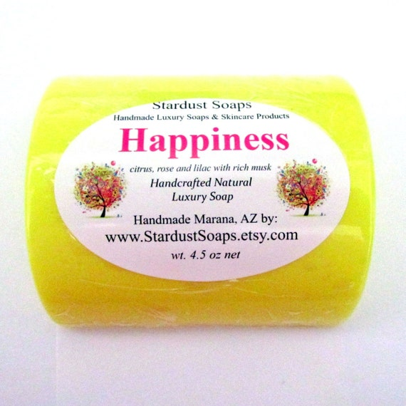 Happiness Bar soap/handmade/homemade/natural bar soap /self care/soap/personal care/handcrafted fresh and clean soap
