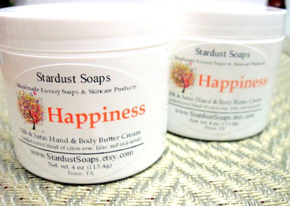 Happiness Cream  /balanced/moisture/soothe/eczema/self care/personal care/radiant/anti aging/body butter/hand and body/