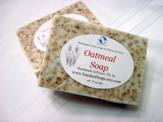 Oatmeal Bar Soap,handmade in USA, for all skin types, soothes irritated skin, moisturizing, exfoliation, FALL Liquidation SALE