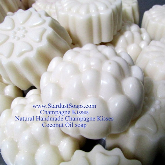 Champagne Kisses  luxurious bar soaps, Handmade, lots of lather, smells amazing, gentle, cleanses, gift, Travel size, face and body bar