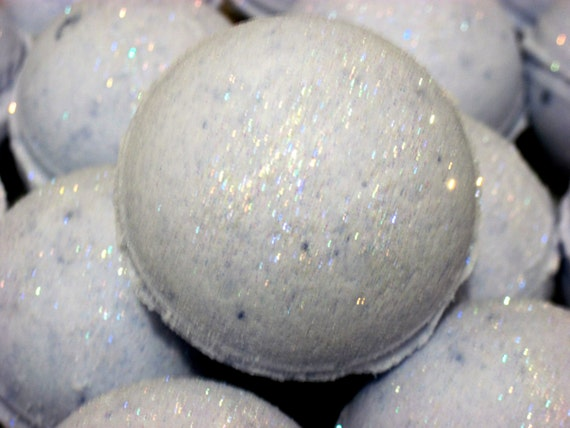 Fairy Dust Bath Bomb Fizzy /homemade, natural exfoliation, hydrates skin w/ almond oil, artisan skin care, luxury bath, for all skin types