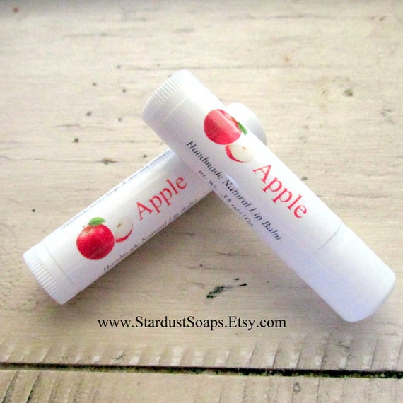 Apple Natural Lip Balm - Handmade, self care, gift idea, travel, outdoors, conditioning, moisturizing, lip protection.