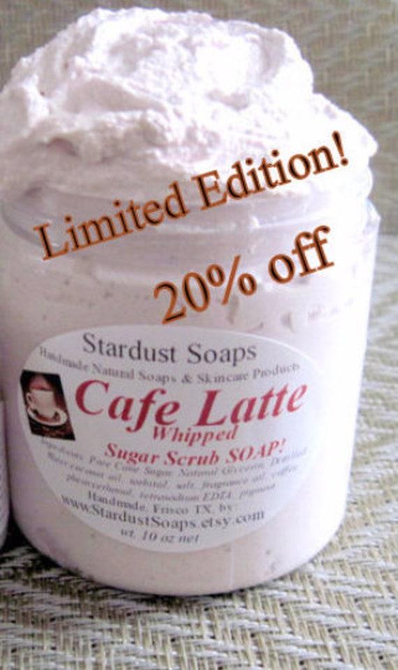 SALE - Cafe Latte Whipped Sugar Scrub Soap