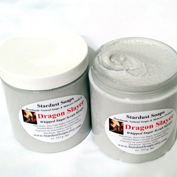 Dragonslayer Whipped Soap Scrub and Body Polish. handmade/exfoliating and moisturizing /masculine soap/men prefer/ Free USA Ship item