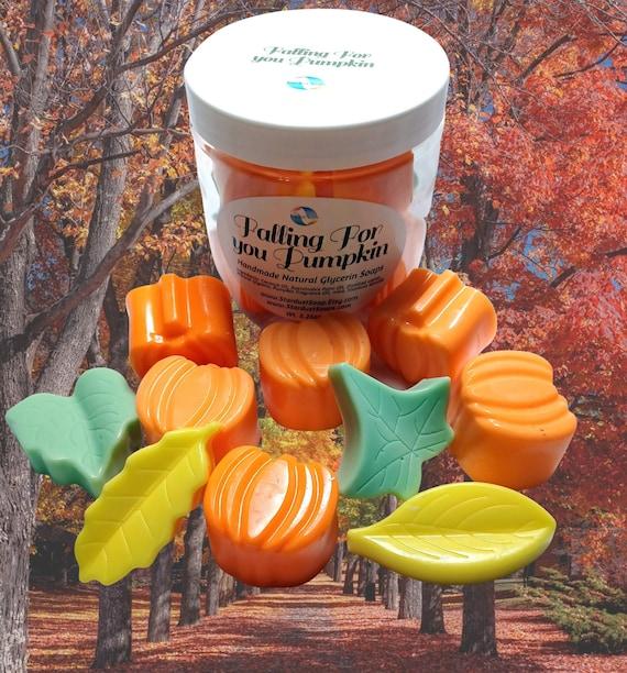 Falling For You Pumpkin, Soap Gift Set, Pumpkin Scented Soaps, soaps in a Jar