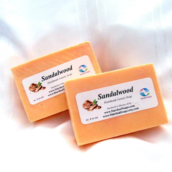 Sandalwood Natural Handmade in USA bar soap, moisturizing, cleansing, luxurious lather, face and body bar soap, Fall Liquidation SALE