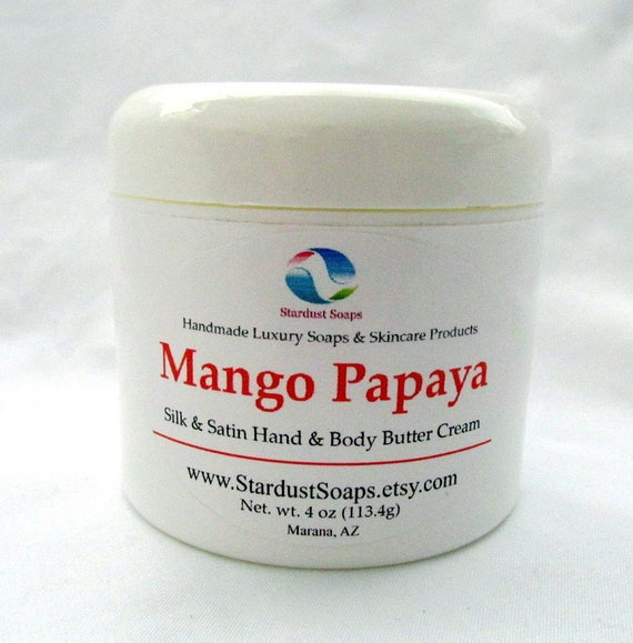 Free USA Shipping/Mango Papaya Cream/homemade cream/hydrating,moisturizing cream/fruity cream/all skin type cream/hydrating cream/silky feel