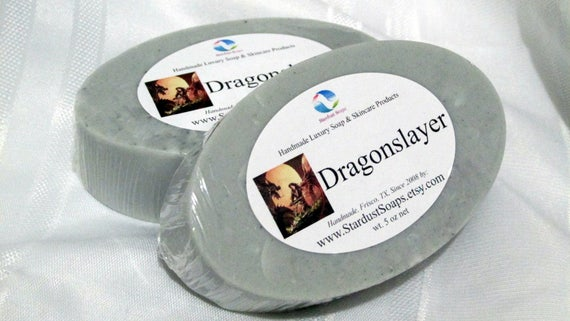 Dragon slayer Bar Soap/homemade soap/masculine soap,lots of lather, shaving soap,moisturizing soap, self care soap, artisan soap,luxury soap