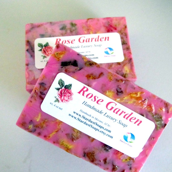 Rose Garden Handmade luxury soap, self care, aromatic, personal care, gift soap, Mom, Christmas, moisturizing soap st 4 oz net