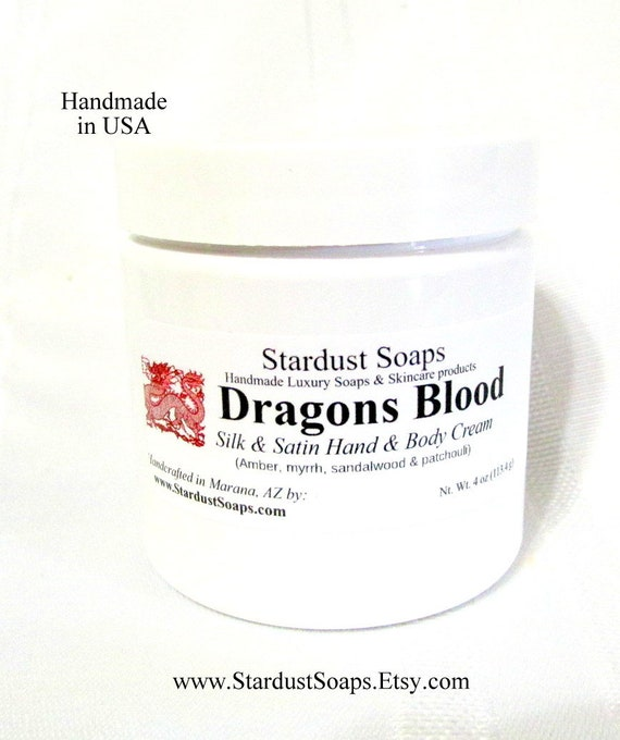 Dragons Blood lotion/cream, handmade in USA, moisturizing, anti-aging cream, for all skin types, does not clog pores wt. 4 oz. net