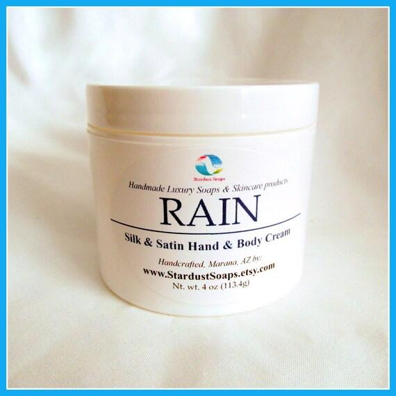 Rain Cream, plant based, Handmade, refreshingly clean scent, moisturizing, hydrates skin, for all skin types, anti aging, travel, gift cream