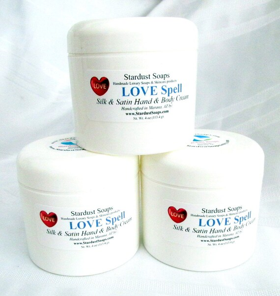 Free USA Shipping - Love Spell Silk and Satin hand and Body butter /moisturizing/skin care/self care/pH balanced/anti-aging/