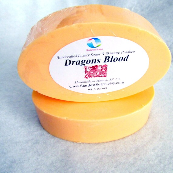Dragons Blood Handmade Luxury Bar soap, smells good to the very end, nice lather, clean rinse, gift soap, luxurious soap, wt. 5 oz net