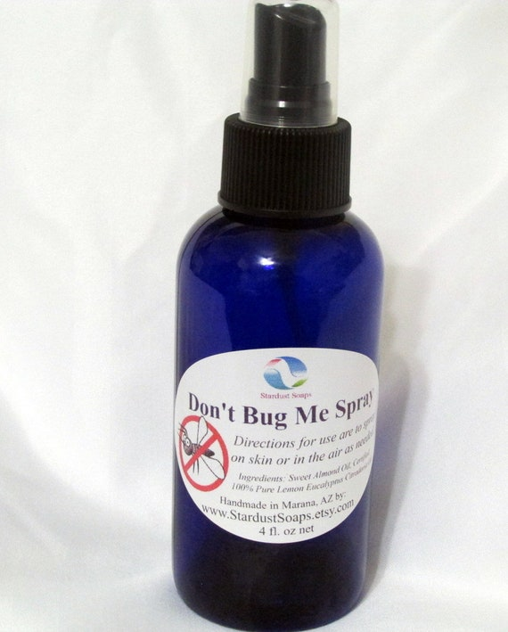 Don't Bug Me Spray - Handmade ALL Natural Bug Off Spray - skin safe, really works, no chemicals. Outdoors Gift
