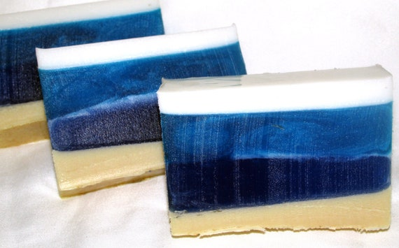 Ocean Fresh bar soap (Handmade, refreshing, lots of lather, aromatic, Clean, natural) wt. 5.375 oz net Stardust Soaps