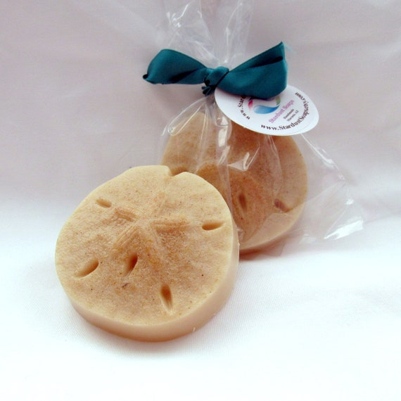 SALE Sand Dollar Oatmeal Bar Soap (handmade, individually wrapped and labeled)