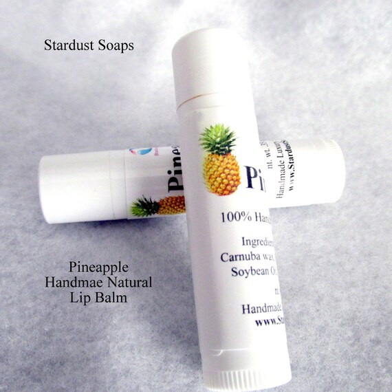 Pineapple Beeswax Lip balm, handmade in the USA, moisturizing, lip protection, skincare, self care, gift