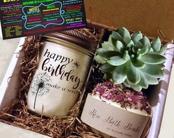 40th Birthday Gift 1978 Soy Candle Succulent Rose Soap Bomb