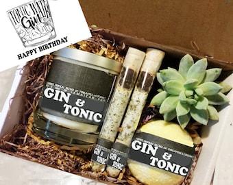Birthday Gift Best Friend Gin Tonic Box Spa Friendship