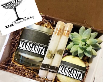 21st Birthday Gift Box Margarita Candle Thinking Of You Friend