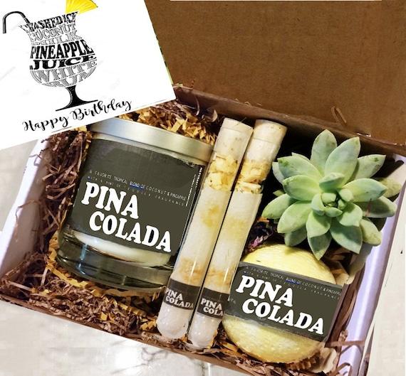 Birthday Gift Sister Pina Colada Candle Box Girlfriend